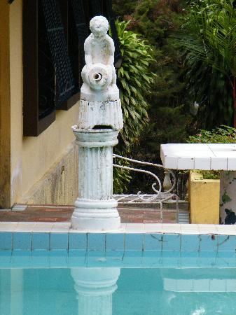 Hostal Casa de Campo Country Inn & Spa: pool broken statue with filter (not running)