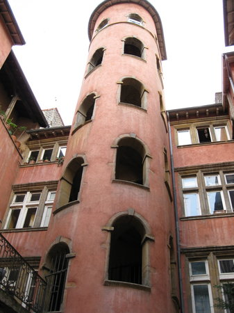 Artelit: the pink tower, our room was at the base on the right