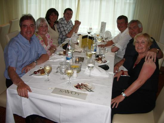 Sensimar Savoy Gardens : Gala dinner with us and the Welsh gang