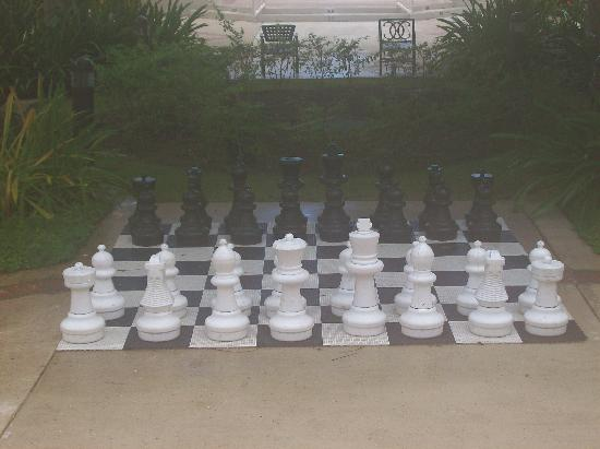 Anasco, Puerto Rico: one of the giant chessboards in the courtyard