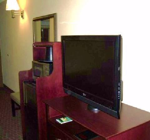 Quality Inn & Suites Peoria: Flat screen TV, microwave, mini-fridge/freezer