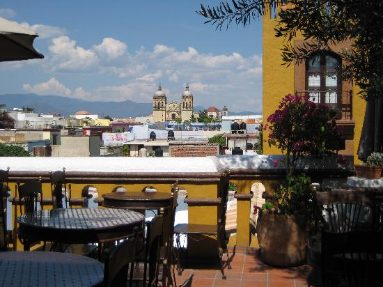View from restaurant balcony picture of hotel casa del for Hotel casa de los azulejos tripadvisor