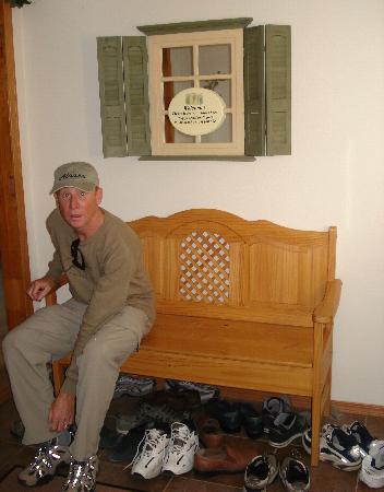 Alaska Garden Gate B & B: entrance, remove shoes