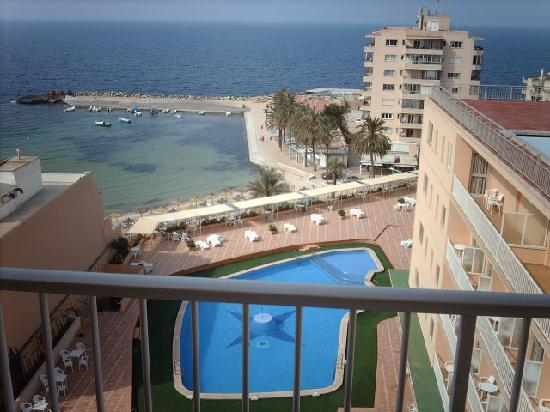 Sunprime Waterfront: From balcony, pool then Med