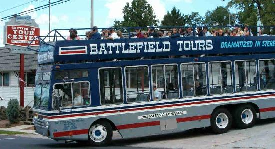 Gettysburg Battlefield Bus Tours: Double Decker Audio Tour