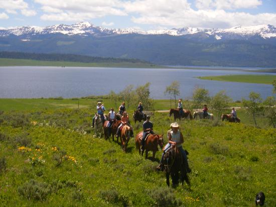 Parade Rest Ranch: Ride overlooking Hebgen Lake