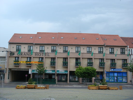 Trebic, Tjeckien: Hotel from outside