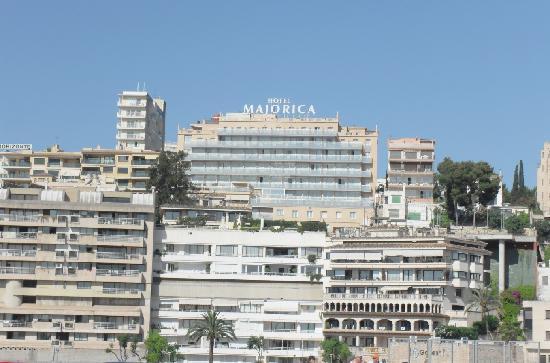 Hotel view from ma19 route picture of catalonia majorica for Hotel palma de mallorca