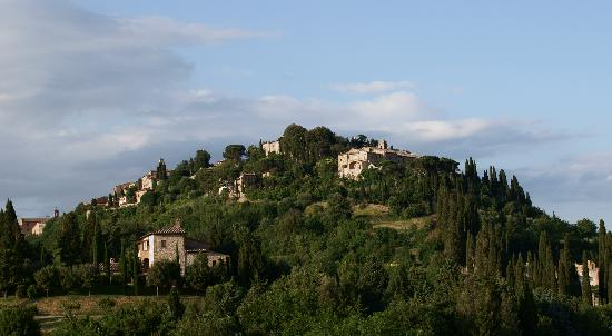 Albergo San Biagio: View from room of Montepulciano