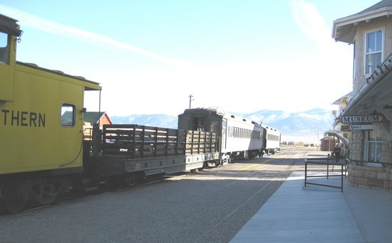 Ely, NV: NNRR excursion train in front of depot