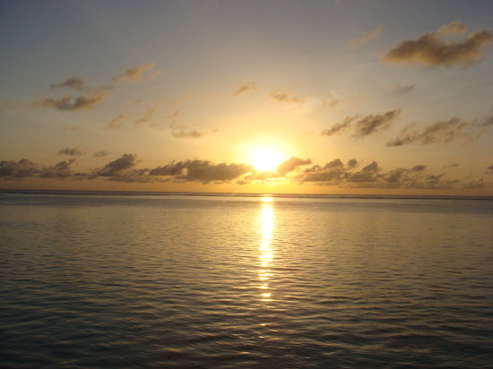 Meerufenfushi: Sunrise from the room