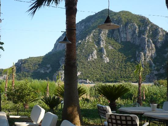 Olympos Lodge: View from restaurant