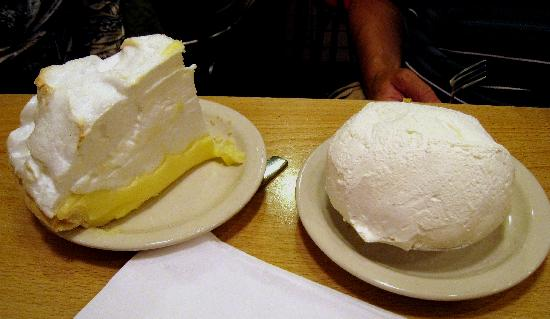 Cecil's Delicatessen & Bakery: The lemon meringue pie and banana cream pie at Cecil's