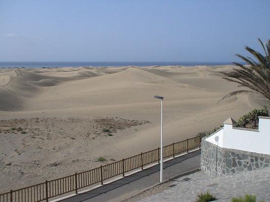 Playa del Ingles, Spain: Blick auf den Dünen von Maspalomas