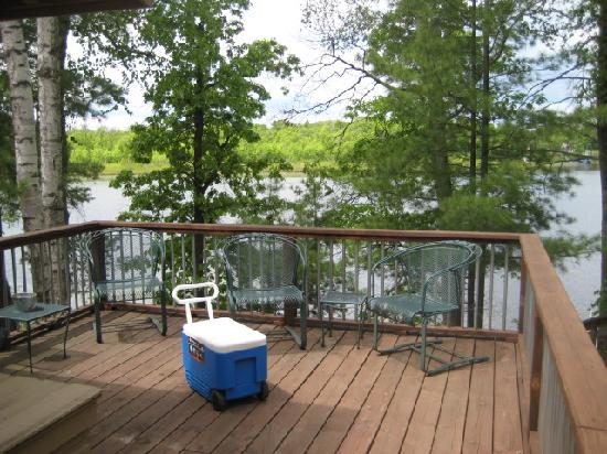 Lost Lake Lodge: private deck