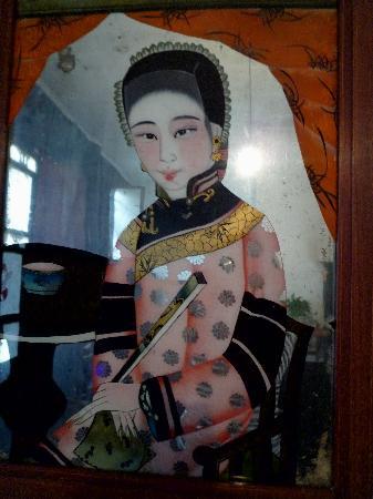Pingyao Yide Hotel: Habitación: pintura sobre vidrio