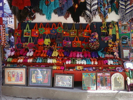 A colorful shop in Thamel