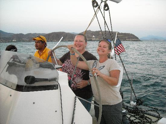 Picante Sailing Catamaran: we commandeered the boat!!!