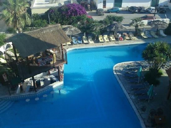 This was the view from our balcony picture of seva - Hotel with swimming pool on balcony ...