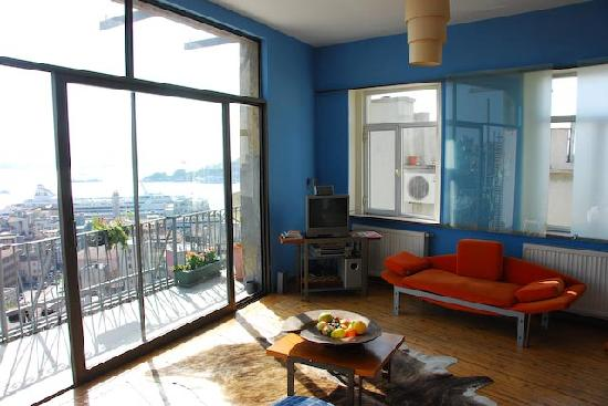Manzara Istanbul: Wohnzimmer mit Bosporusblick