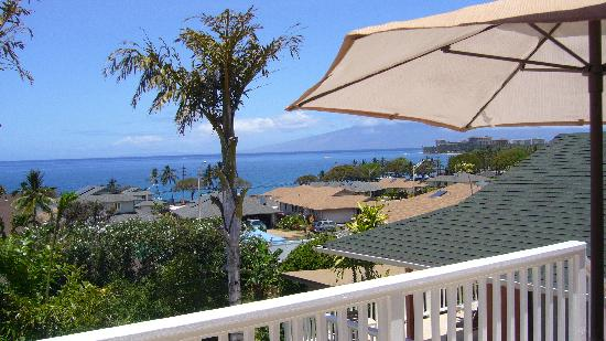 Garden Gate Inn: View from the terrace to the ocean