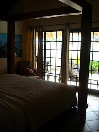 Cotton Ground, île de Nevis : bad bad bedroom photo - it's beautiful, really!