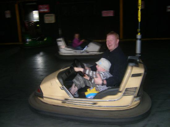Gulliver's World - Warrington: My husband and son on Dodgems