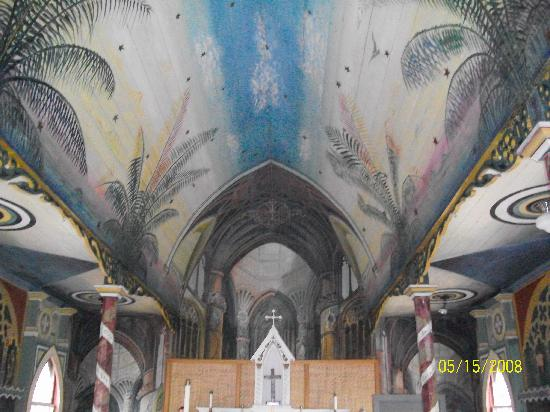 The Painted Church: Hand-painted ceiling