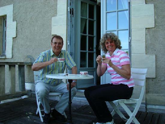 Chateau La Roussille : op het terras van de Lolita Suite