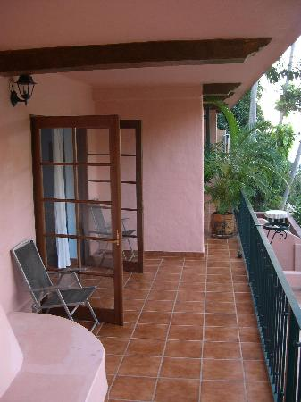 Casa de los Artistas: Our bedroom balcony