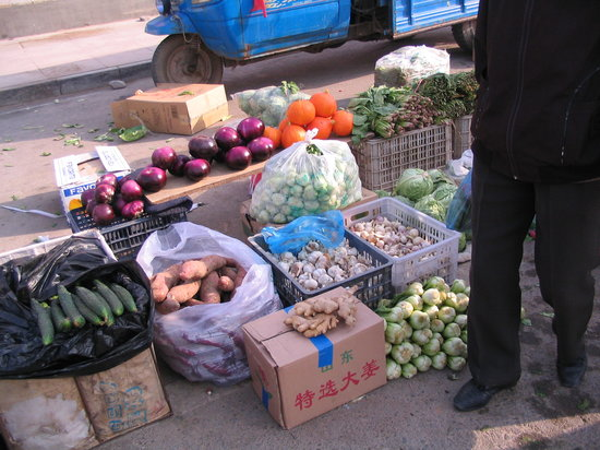 Hebei, China: Colourful local market, Chicheng Town