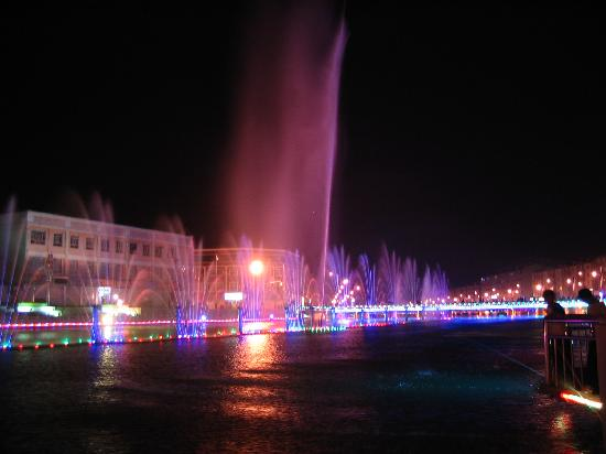 Hebei, China: Fountain in Chicheng Town
