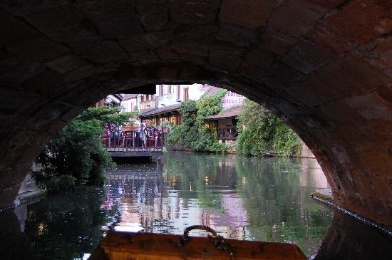Little Venice: under one bridge in Colmar