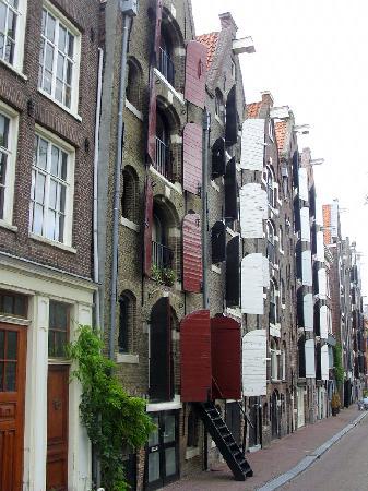 Quelle case tutte particolari foto di amsterdam olanda for Case particolari