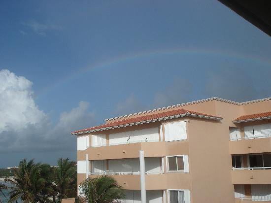 Villas del Mar 2: rainbow over condos