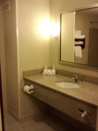 Holiday Inn Express & Suites Niagara Falls: Sink area of bathroom