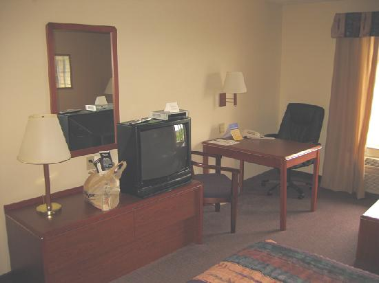 Best Western Plus Park Place Inn & Suites : TV and work station.
