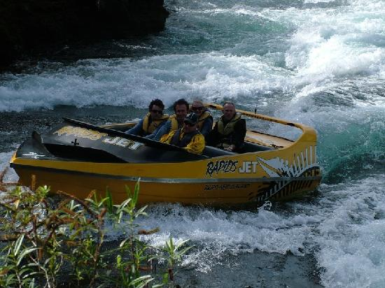Taupo, Nouvelle-Zélande : Rapids Jet Waikato river