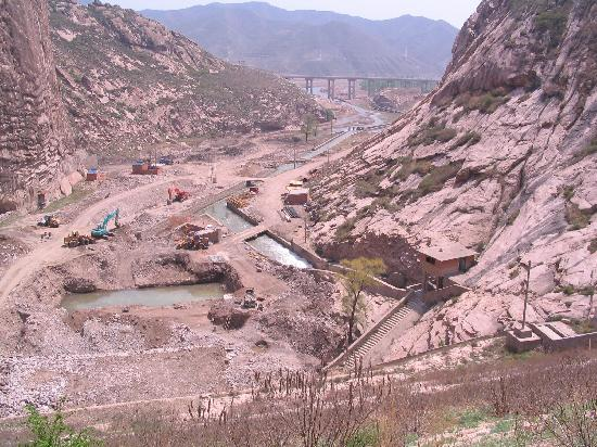 Hebei, China: Work in progress on Dam (May 2009)