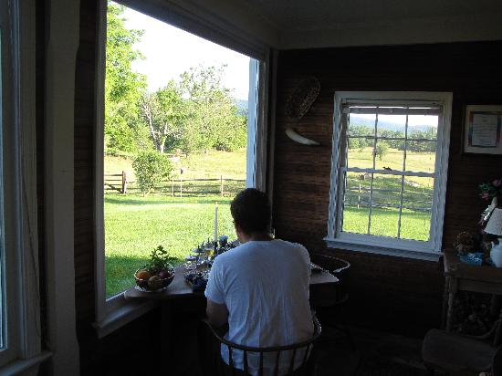 Caledonia Farm - 1812  B&B: Part of the magnificent view from the breakfast room.