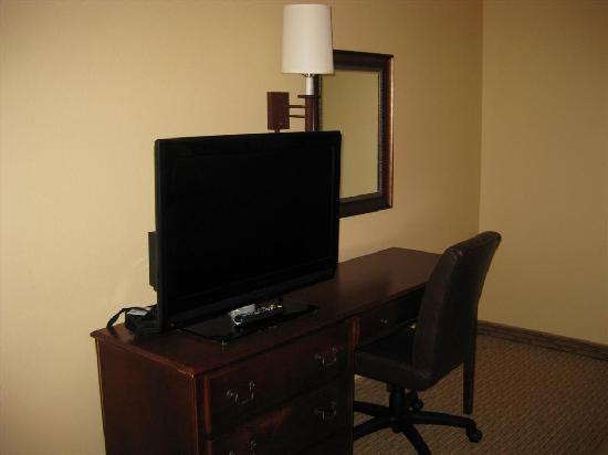 Homewood Suites Baton Rouge: Fancy flat screen tv and desk