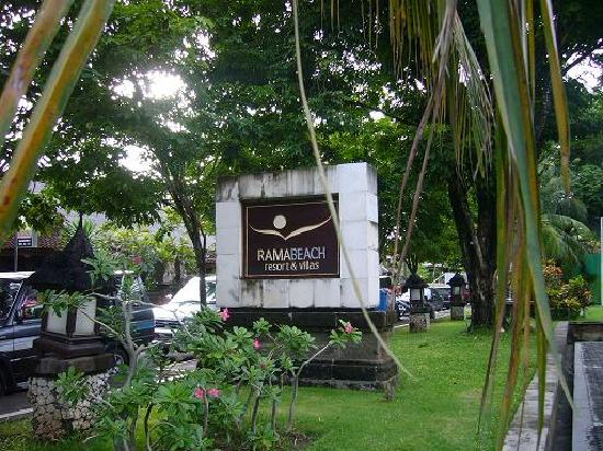 Rama Beach Resort And Villas Entrance Sign