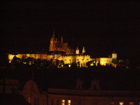 Prague castle at night picture of design hotel josef for Design hotel josef prague tripadvisor