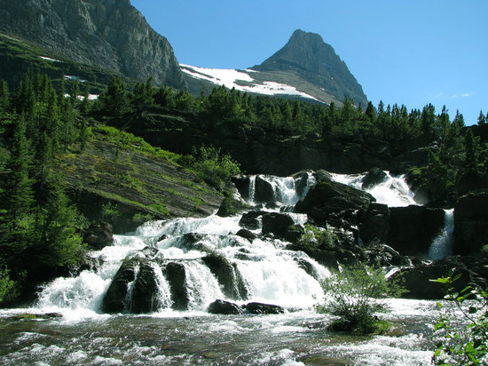 Glacier National Park, Μοντάνα: Red Rock Falls