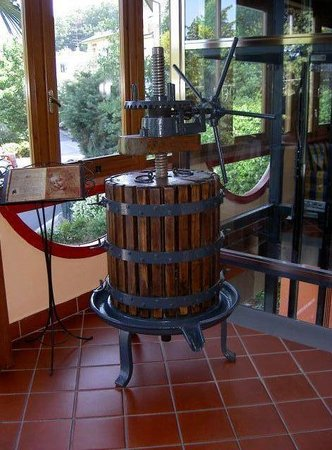 Hotel Bellavista: Antique press on display