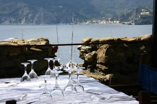 Belforte: view from top terrace of the Belfort restaurant