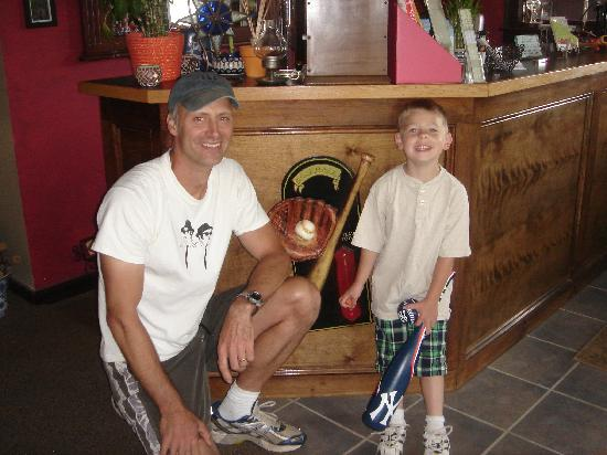 The Meadowlark Inn Cooperstown: George with our son