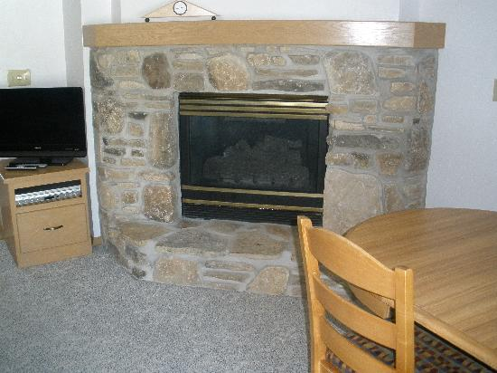 The Hilltop Inn: the fireplace