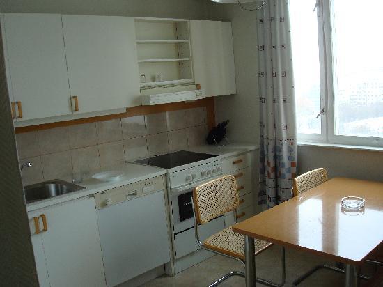 Tsaritsino Hotel: full fledged kitchen with tons of utensils