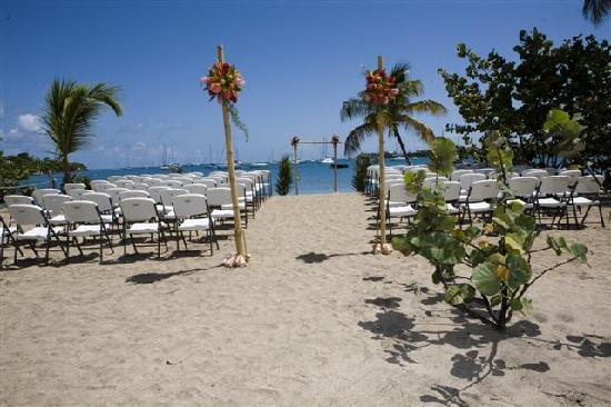 Lance Aux Epines, Grenada: the ceremony setup